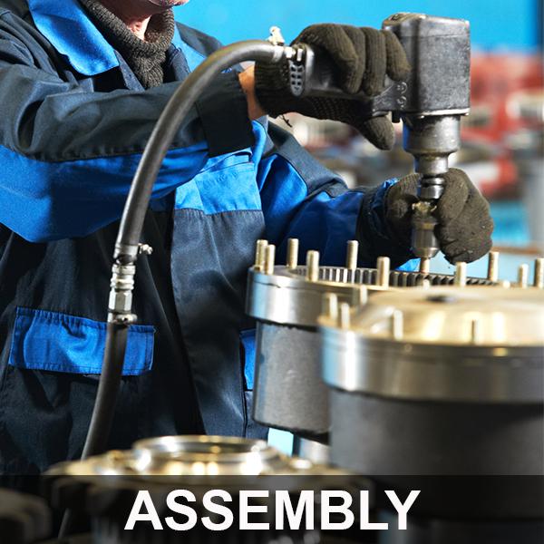 man assembling custom foundry services